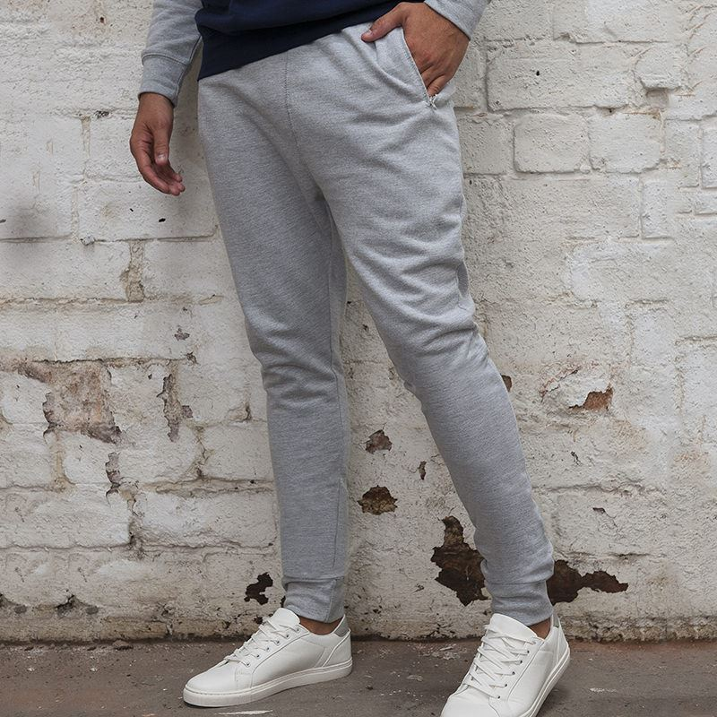 02 Dropped Crotch Jog Pant grey