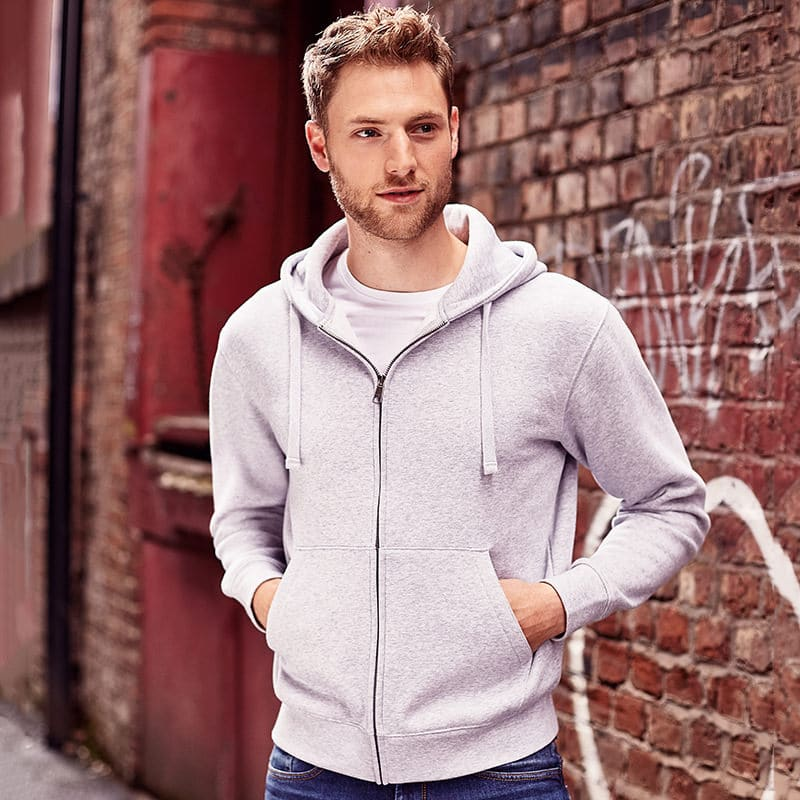 13 Authentic Zipped Hooded Sweatshirt