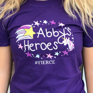 Abby's heroes t shirt